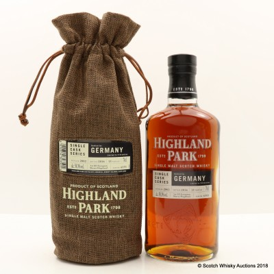 Highland Park 2002 13 Year Old Single Cask #6353 For Germany