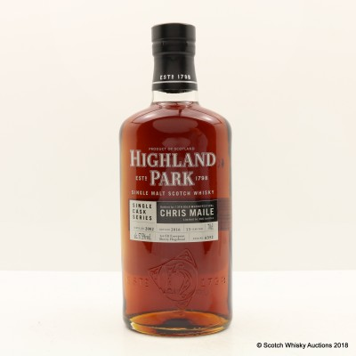 Highland Park 2002 13 Year Old Single Cask #6352 For 13th Oslo Whisky Festival Chris Maile