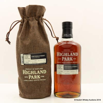 Highland Park 2001 15 Year Old Vintersolstandet Single Cask #1674