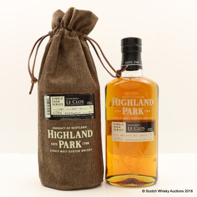 Highland Park 2002 15 Year Old For Le Clos Single Cask #2911