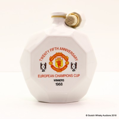 Manchester United 25th Anniversary of 1968 European Cup Win Ceramic Decanter