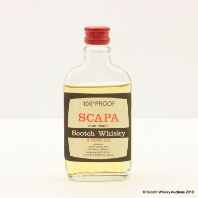 Scapa 8 Year Old 100° Proof Gordon & MacPhail Mini 5cl