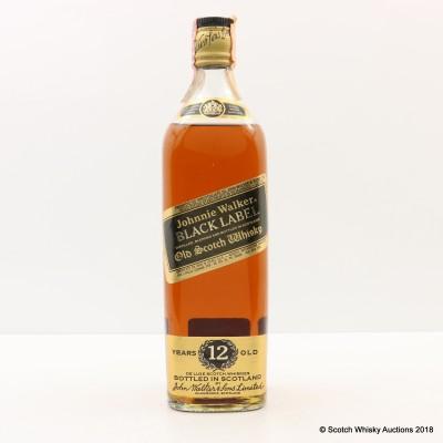 Johnnie Walker 12 Year Old Black Label 75cl