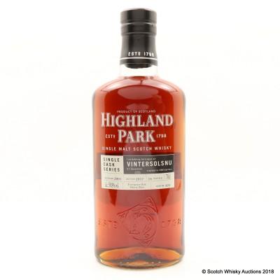Highland Park 2001 16 Year Old Single Cask #651 For Vintersolsnu