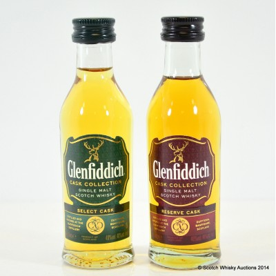 Glenfiddich Cask Collection Minis 2 x 5cl