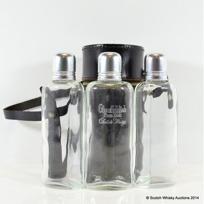 Glenfiddich Hunter's Flask In Leather Holder