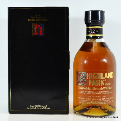 Highland Park 12 Year Old Clear Gold Print Label