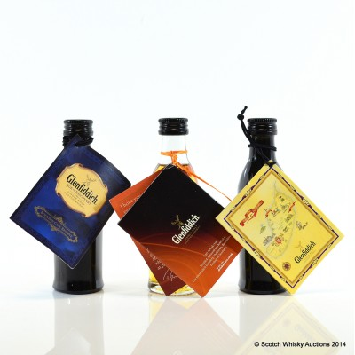 Glenfiddich Age Of Discovery Mini 5cl x 2 & Glenfiddich Rich Oak 14 Year Old Mini 5cl