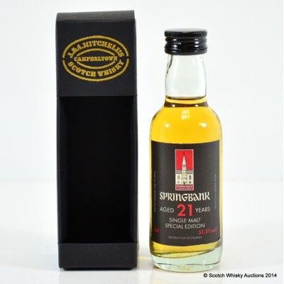 Springbank Town Hall 21 Year Old Mini 5cl