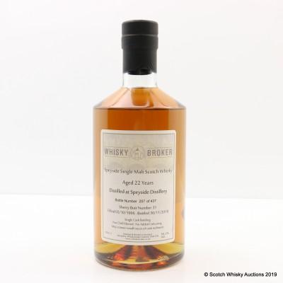 Speyside 1996 22 Year Old Whisky Broker