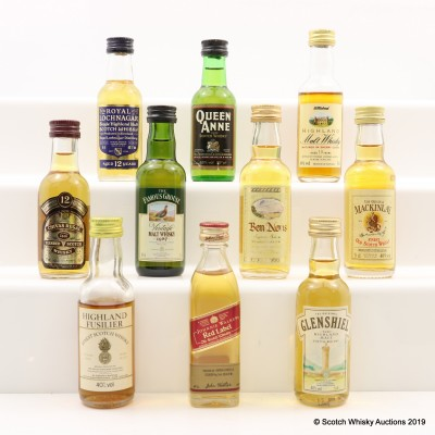 Assorted Minis 10 x 5cl Including Royal Lochnagar 12 Year Old