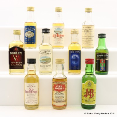Assorted Minis 10 x 5cl Including Glenrothes 12 Year Old Old Style