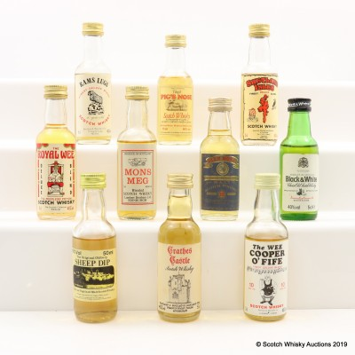 Assorted Minis 10 x 5cl Including Glen Moray 12 Year Old