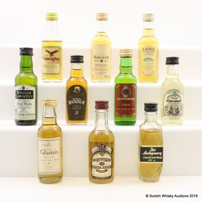 Assorted Minis 10 x 5cl Including MacKinlay 21 Year Old