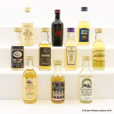Assorted Minis 10 x 5cl Including MacDonald's Glencoe 8 Year Old Cask Strength