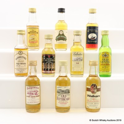 Assorted Minis 10 x 5cl Including Glenrothes 8 Year Old Gordon & MacPhail