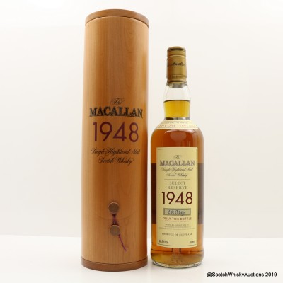 Macallan Select Reserve 1948 51 Year Old With Certificate