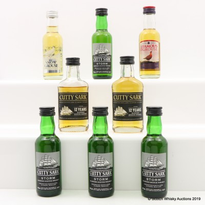 Assorted Minis 8 x 5cl Including Cutty Sark 12 Year Old