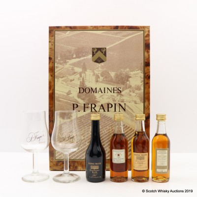 Domain Frapin Cognac Minis 4 x 5cl & Glasses Set