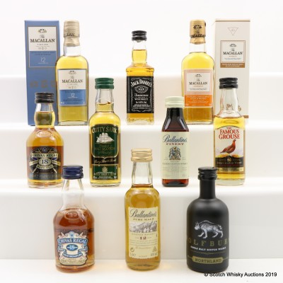 Assorted Minis 10 x 5cl Including Chivas Regal 18 Year Old