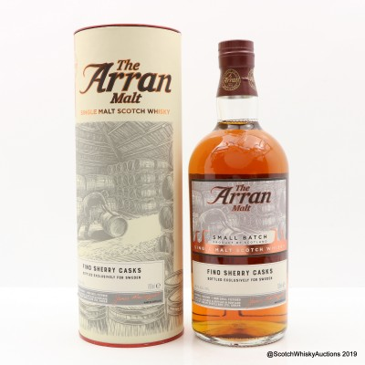 Arran 2008 9 Year Old Small Batch Fino Sherry Cask For Sweden