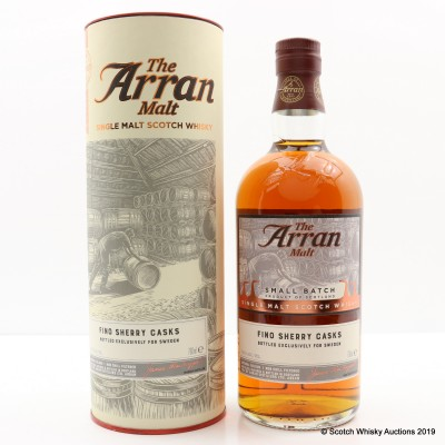 Arran 2008 9 Year Old Fino Sherry Casks Small Batch For Sweden