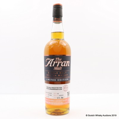 Arran 1998 18 Year Old Limited Edition for www.arranwhisky.com