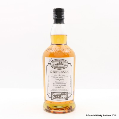 Springbank 10 Year Old Private Bottling to Commemorate the Decommisioning of HMS Campbeltown