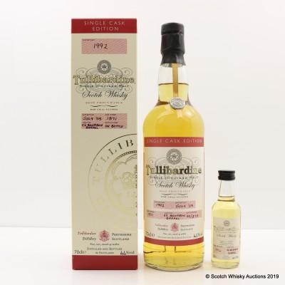 Tullibardine 1992 Single Cask #1871 with Matching Mini