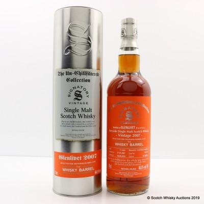 Glenlivet 2007 11 Year Old Signatory For The Whisky Barrel