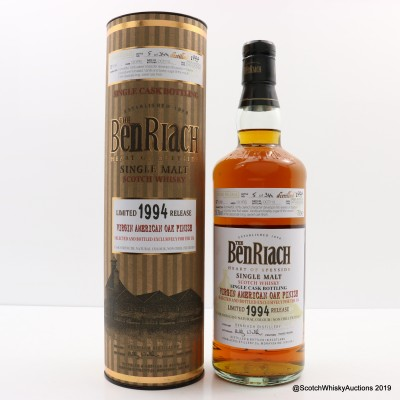 Benriach 1994 19 Year Old Single Cask #4386