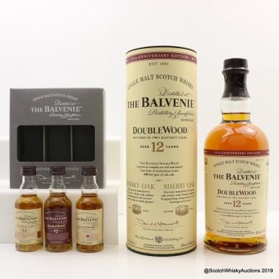 Balvenie 12 Year Old DoubleWood 25th Anniversary 70cl & Balvenie Tasting Collection 3 x 5cl