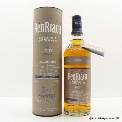 BenRiach 2007 10 Year Old Moscatel Cask #8731