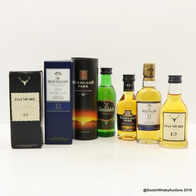 Assorted Minis 4 x 5cl Including Macallan 12 Year Old Double Cask
