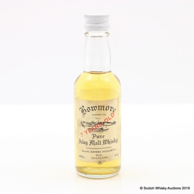 Bowmore Sherriff's 7 Year Old 5cl