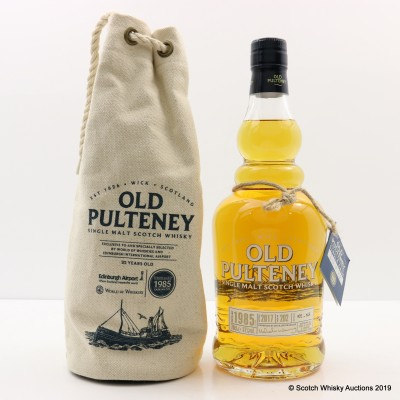 Old Pulteney 1985 32 Year Old Single Cask #202 For Edinburgh Airport