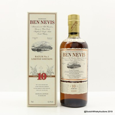 Ben Nevis 2008 10 Year Old Batch #1