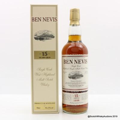Ben Nevis 1996 15 Year Old Single Cask #1654