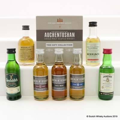 Assorted Miniatures 7 x 5cl including an Auchentoshan Gift Collection Set