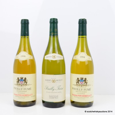 Adolphe Fougeres & Cie Pouilly Fume 1998 2 x 75cl & Albert Bichot Pouilly Fuisse 1997 75cl