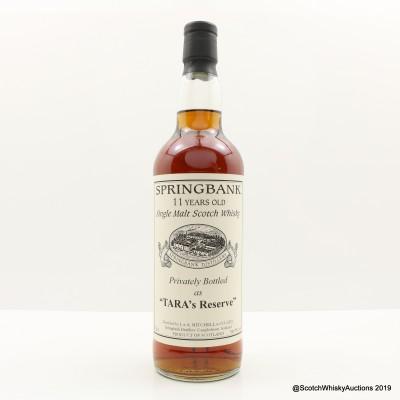 Springbank 11 Year Old 'Tara's Reserve' Private Bottling
