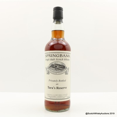 Springbank 'Tara's Reserve' Private Bottling