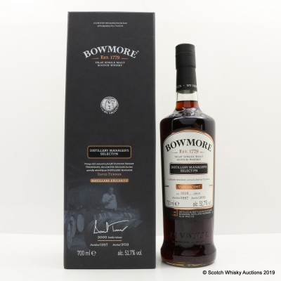 Bowmore Vintage 1997 Distillery Manager's Selection