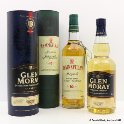 Tamnavulin 10 Year Old & Glen Moray Classic