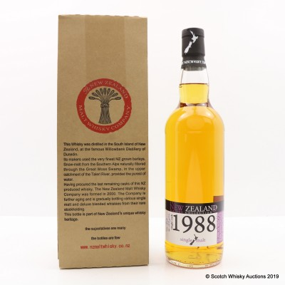 Dunedin 1988 25 Year Old Single Cask #64 New Zealand Whisky Co