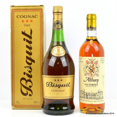 Althorp Sauternes 75cl & Bisquit Cognac 1L