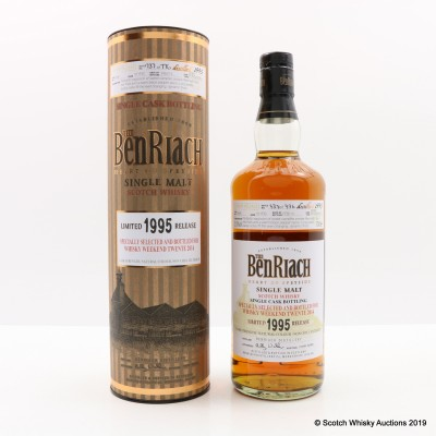 BenRiach 1995 18 Year Old Single Cask #3696 For Whisky Weekend Twente