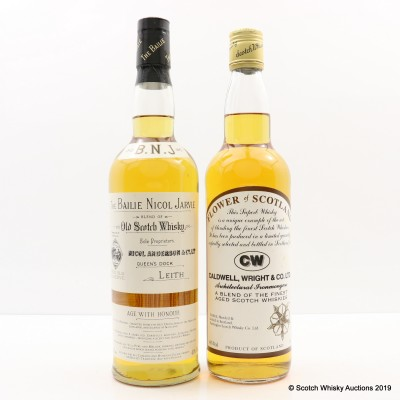 Bailie Nicol Jarvie & Flower Of Scotland Blend For Caldwell, Wright & Co