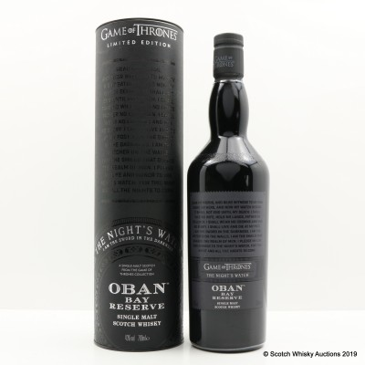 Oban Bay Reserve Game Of Thrones 'The Night's Watch'