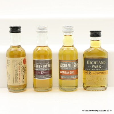 Assorted Minis 4 x 5cl Including Highland Park 12 Year Old